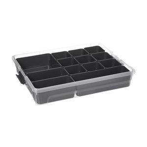Verschillende opbergboxen met uitneembare bakjes Five®