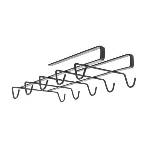 Tomado | Metaltex Kopjesrek aan plank Metaltex - Black edition | 10 ophanghaken