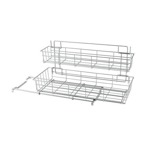 Tomado | Metaltex Gootsteenkast rekje uitschuifbaar grijs Metaltex | 2 etages