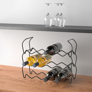 Wijnrek staal stapelbaar 3 stuks - Black edition