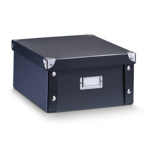Opbergboxen met deksel zwart Zeller