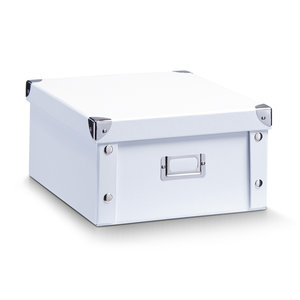 Opbergboxen met deksel wit Zeller