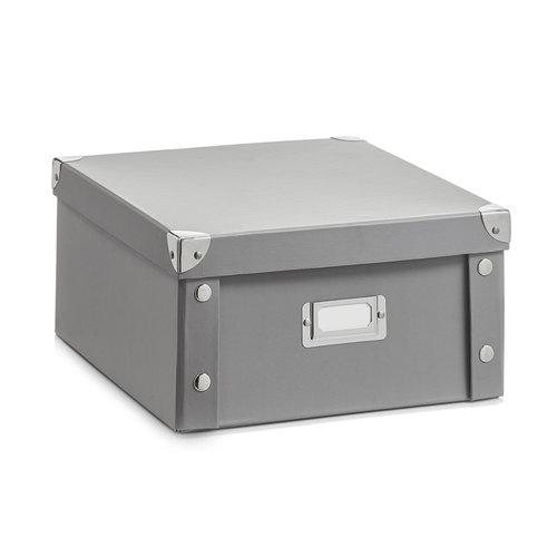 Opbergboxen met deksel grijs Zeller Present