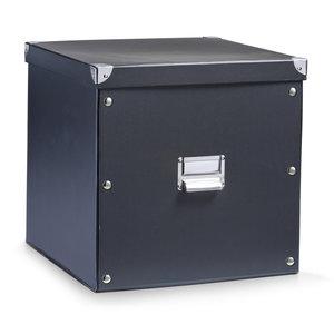 Opbergbox met deksel large (33 x 33 x 32 cm) zwart Zeller