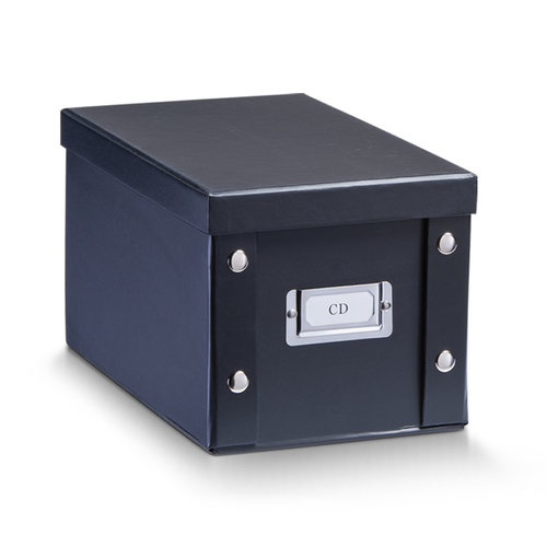 Zeller Present Opbergbox met deksel zwart Zeller
