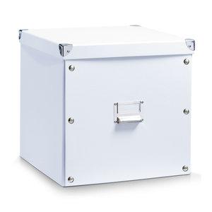 Opbergbox met deksel large (33 x 33 x 32 cm) wit Zeller