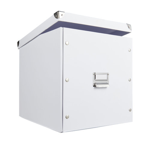 Zeller Present Opbergbox met deksel wit Zeller