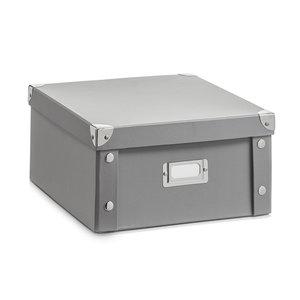 Opbergbox met deksel medium (31 x 26 x 14 cm) grijs Zeller