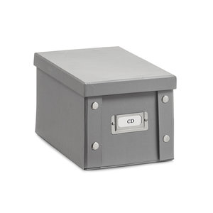 Opbergbox met deksel grijs