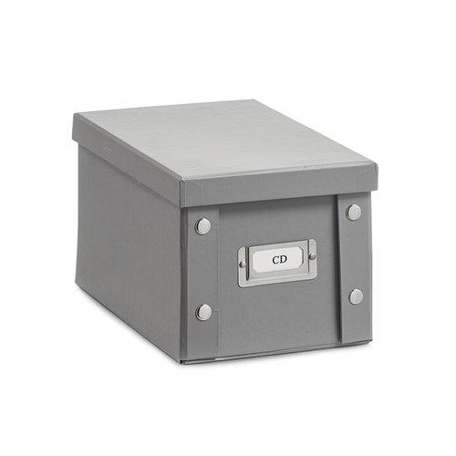 Zeller Present Opbergboxen met deksel grijs Zeller