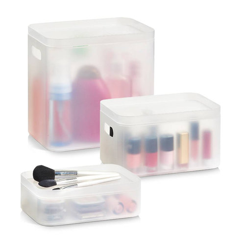 Zeller Present Make up box stapelbaar 3-delig Zeller | 2 formaten
