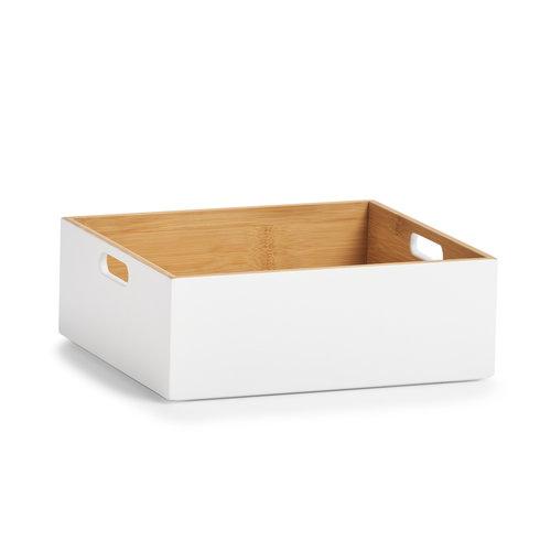 Houten opbergbox stapelbaar Zeller Present