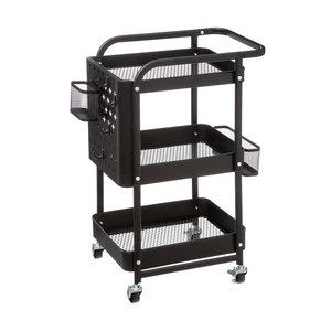 Keukentrolley zwart incl. accessoires  Five®
