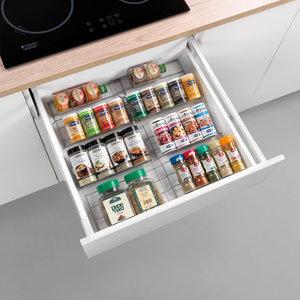 Kruidenrek uitschuifbaar metaal Metaltex - Smart Kitchen