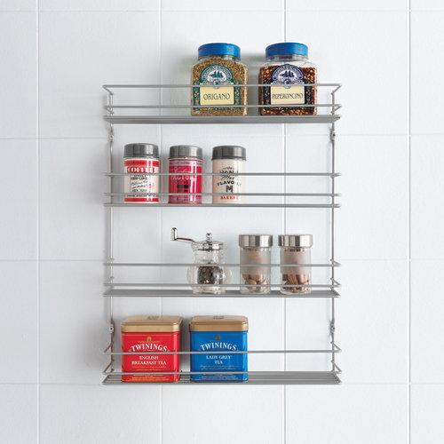Tomado   Metaltex Kruidenrek keuken voor muur of deurbevestiging    Metaltex