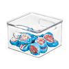 The Home Edit koelkast bak vierkant (15 x 15 x 11 cm) met deksel