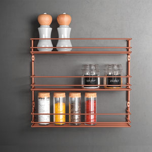 Kruidenrek wand 3 etages Metaltex - Copper edition