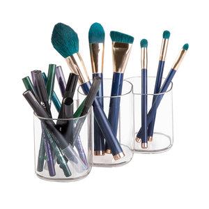 Make-up kwasten houder 3-vaks iDesign - Clarity