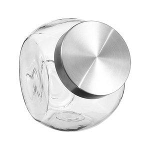 Voorraadpotten glas met metalen deksel Five®