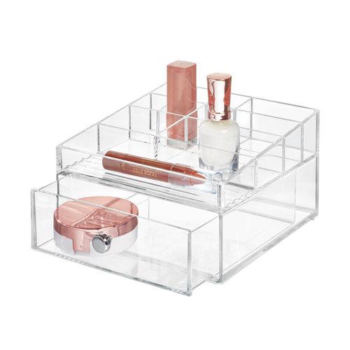 Transparant doosje met lades iDesign   brillen opbergen, stapelbaar