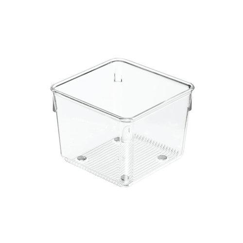 Ladebakjes transparant 8 cm hoog iDesign - Linus