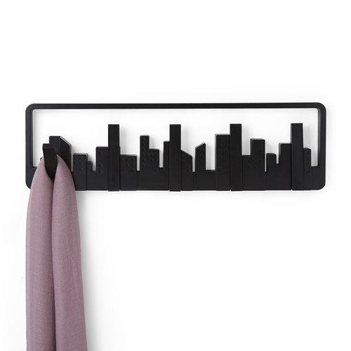 Design kapstok skyline UMBRA | 5 uitklapbare haken