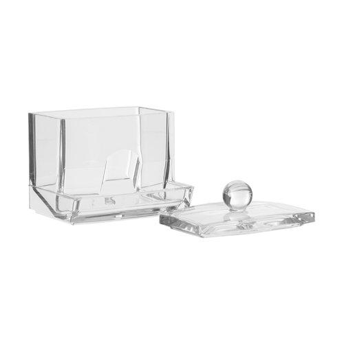 Five® Wattenstaafjeshouder vierkant transparant Five®   met deksel