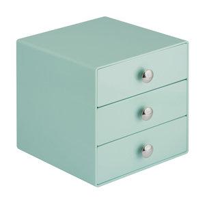 Make-up kastje 3 lades (groen) iDesign - Drawers