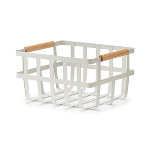 Metalen mandje houten handvatten Zeller