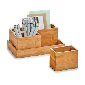 Bureau organizer hout 4-delig Zeller