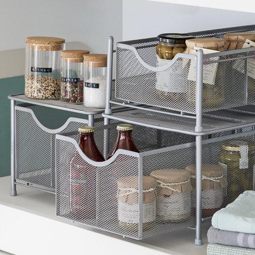 Keukenkast rekje uitschuifbare mand Zeller Present | stapelbaar