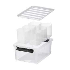 Opbergbox 14 liter (30 x 40 x 18 cm) - 6 uitneembare bakjes Orthex