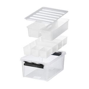 Opbergbox 14 liter (30 x 40 x 18 cm) - 7 uitneembare bakjes Orthex