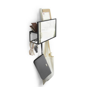 Design spiegel hal met 5 ophanghaken UMBRA