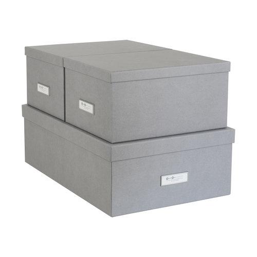 Bigso Box of Sweden Opbergdozen met deksel | Set van drie stuks