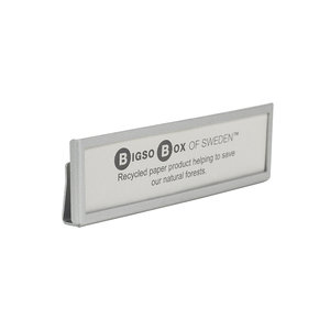 Metalen labelhouder 4 stuks Bigso - Labelhouders