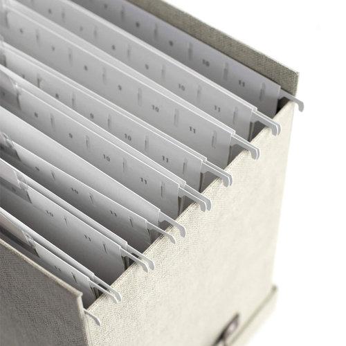 Hangmappen met labels 8 stuks Bigso Box of Sweden