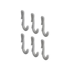 Smalle ophanghaken grijs voor perfoplaat ophangbord Elfa
