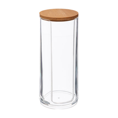 Five® Wattenschijfjes dispenser bamboe deksel Five®