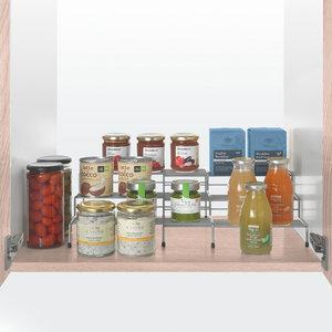 Potten en kruidentrap uitschuifbaar Metaltex - Smart Kitchen
