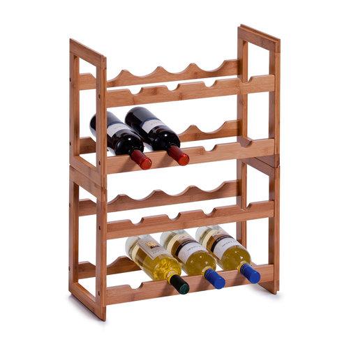 Zeller Present Houten wijnrek stapelbaar Zeller | 8 flessen