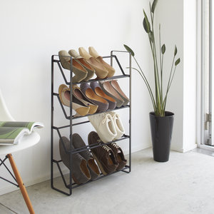 Metalen schoenenrek 4 niveaus Yamazaki