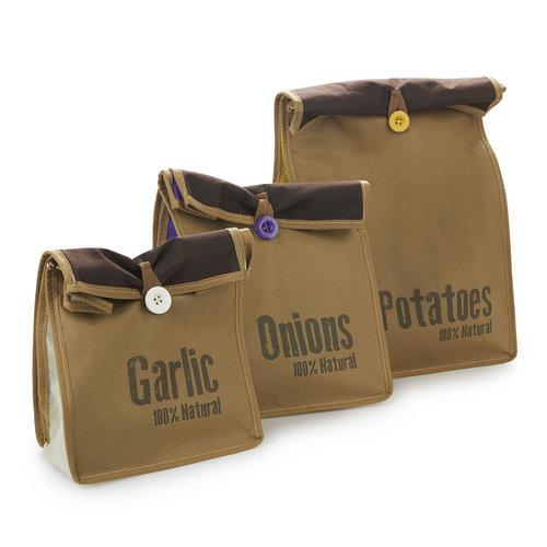 Groente en aardappelzakken 3-delig Balvi