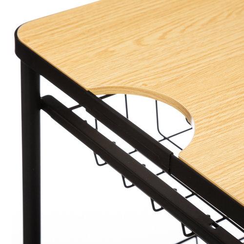 Metalen trolley met houten blad Five®