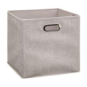 Opvouwbare opbergboxen large (31 x 31 x 31 cm) beige Five®
