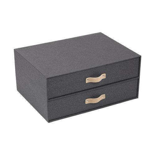Opbergdoos met sorteerlades Bigso Box of Sweden - Wood Pattern