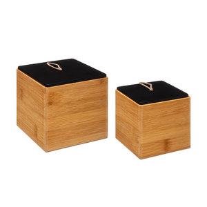 Bamboe bakjes met deksel Five®