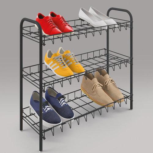 Metalen schoenenrek Tomado   Metaltex