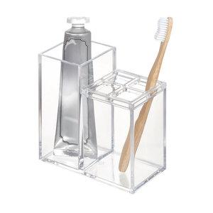 Tandenborstel en tandpasta houder iDesign - Clarity