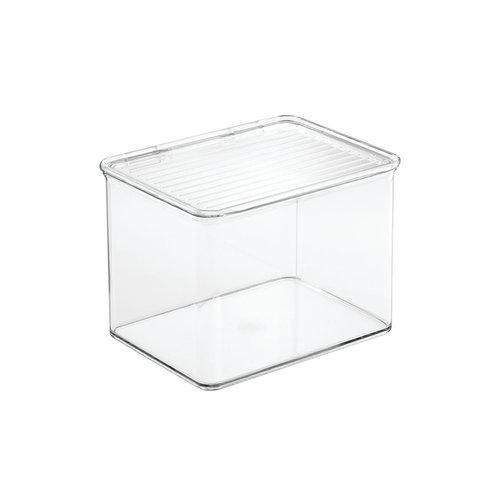 Opbergbox met deksel iDesign Kitchen Binz   stapelbaar
